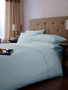 Hotel Collection 500 thread count double duvet cover set softblue £69