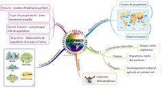 "Carte mentale ""La population mondiale"""