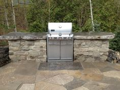 Stone countertops for BBQ insert