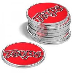 Maryland Terrapins 12 Pack Collegiate Ball Markers