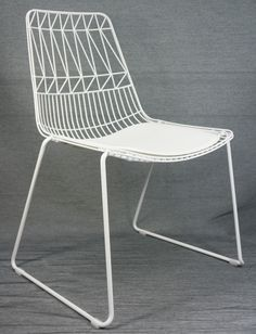 Ordinaire Net Outdoor Chair Replica Bend Wire Lucy Dining Chairs Stackable White