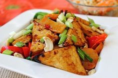 Vegan Kung Pao Tofu. Recipe here: http://peachypalate.com/recipage/?recipe_id=6019662