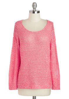Coral Riff Sweater, #ModCloth