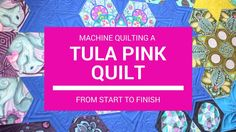 """Machine Quilting A Tula Pink Quilt From Start to Finish - The """"Daytime"""" Quilt Show Longarm Quilting, Free Motion Quilting, Quilting Tips, Quilting Tutorials, Machine Quilting Tutorial, Machine Quilting Designs, Midnight Quilt Show, Crafty Gemini, Butterfly Quilt"""