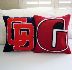 Custom School Logo Fleece Throw Pillow by PatternsOfWhimsy on Etsy