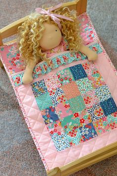 Adorable doll quilt would be such a cute gift for a little girl 2019 - ruffle bag bag bag boy parody bag crochet pattern bag pattern free bag code duffle bag - bag - Ruffle Skirt Summer Dress 2019 Sewing Doll Clothes, Baby Doll Clothes, Sewing Dolls, Baby Dolls, Reborn Dolls, Reborn Babies, Barbie Clothes, Baby Sewing Projects, Sewing For Kids