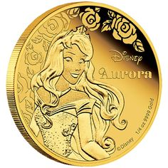 Disney Princess - Aurora 2015 1/4oz Gold Proof Coin