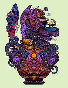 Raul Urias, Recent Work. Gorgeously colorful and... - Supersonic Art
