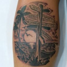Www Ettore Bechis Streetsign Tattoo Done With S And Needles