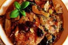 Foodista | Recipes, Cooking Tips, and Food News | Braised Chicken with Artichoke Hearts & Olives
