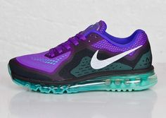 The Nike Air Max 2014 is definitely one of the brighter releases from the series. The Engineered Mesh covered model merges four different colors, but is highlighted by the standout hyper jade and hyper grape tones, and also features flashy add-ons like a reflective silver Nike swoop, and a clear cover over the air bubble [&hellip