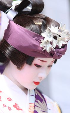 Maiko dressed for Gion Festival in Kyoto, Japan