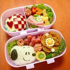スヌーピーのお弁当   ペコリ by Ameba - 手作り料理写真と簡単レシピでつながるコミュニティ -