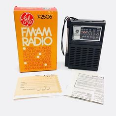 Vintage GE 7-2506 FM/AM Battery Operated Radio NOS Brand New In Box Tested Works #GE #BatteryOperated