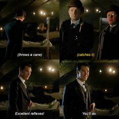 Sherlock's grin though.