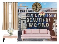 """whimsy living room"" by bi-lv on Polyvore featuring interior, interiors, interior design, home, home decor, interior decorating, Gus* Modern, Eclipse, Diane James and living room"