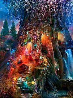 Fantasy art - Page 14 - Fairy tree houses - Fairy Garden - Galleries