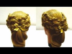 Прическа с плетением на новый год.Мастер класс по плетению кос.New years hairstyle - YouTube