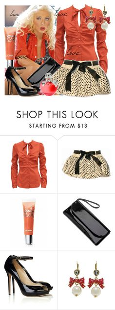 """""""christina aguilera"""" by majakonestabo ❤ liked on Polyvore featuring Fornarina, Miss Grant, Victoria's Secret, Red Herring, Alexander McQueen, Nina, Betsey Johnson, blouse, earrings and love"""