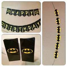 Batman happy birthday banner  party supplies  by Busyisthenewhappy, $10.00