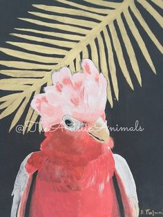 Canvas print of original painting Animal painting Cockatoo