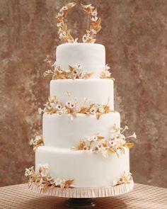Coconut cake adorned with sugar cherry-blossoms  #wedding #mariage #gateau