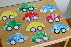 Here's a cute paper car craft for kids that is fun to make! We used these colorful paper cars to decorate for my son's car themed birthday party! (