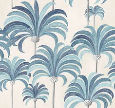A glimpse at French legacy brand Maison Thevenon Palmiers, Illustration Artists, Illustrations, Fabric Wallpaper, Tropical Leaves, Geometric Designs, Palm Trees, Decoration, Wall Murals
