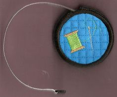 Embroider & Sew :: Retractable Tape Measure Cover - Embroidery Garden In the Hoop Machine Embroidery Designs