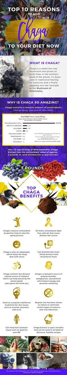 Move over matcha, and acai... there's a major new superfood on the block!  Boasting a HUGE #antioxidant score, the #chaga mushroom is quickly becoming the hottest new nutritional celebrity.  With chaga extract being 3x's more potent than traditional chaga, just simply add 1/2 a tsp of extract to hot water to instantly make a delicious tea or latte, or easily add it to smoothies and other foods for a major nutritional boost.  Tastes like cinnamon, not #mushrooms ;) #vegan #recipe #healthy