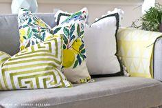 sarah m. dorsey designs: Spring Pillows + Super Easy DIY Pillow