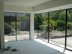 Bungalow Extensions, House Extensions, Future House, My House, Steel Doors And Windows, Glass Extension, Small Doors, New Kitchen Designs, Glass Facades