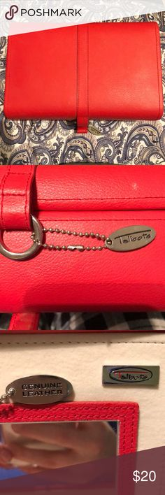 Genuine Leather Jewelry Box 💕Red Genuine Leather Talbots Jewelry Box💕      • lots of storage space Talbots Jewelry