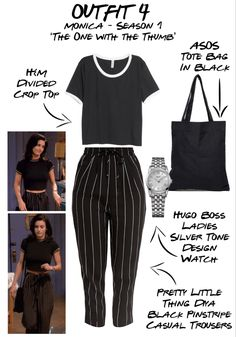 Best Picture For monica geller outfits sleep For Your Taste You are looking for something, and it is Vintage Outfits, Retro Outfits, Casual Outfits, Summer Outfits, Rachel Green Outfits, Look Fashion, 90s Fashion, Fashion Outfits, Friend Outfits