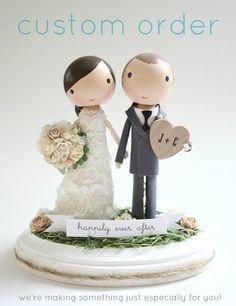 custom wedding cake topper  order for by lollipopworkshop on Etsy, $150.00
