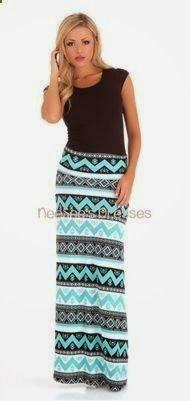 Mint Aztec Maxi Skirt Chevron Maxi Skirt - Love this! Maxi Skirt Outfits, Modest Outfits, Modest Fashion, Cute Outfits, Fashion Outfits, Womens Fashion, Modest Clothing, Apostolic Fashion, Apostolic Style