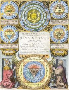 .Engraved title page from Mylius Opus Medico Chemicum Frankfurt 1618.
