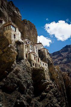 India's Himalayas ~ Phuktal Gompa,Jammu and Kashmir,India.  Photo: mogh_ip via Flickr