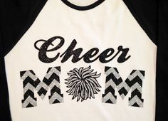 Custom Glitter and Chevron Cheer Mom by GirlieGirlCouture on Etsy, $23.00