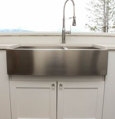 Rachiele custom hammered stainless apron front sinks made in the usa let 39 s restore an old - American made stainless steel sinks ...