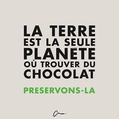 La #terre est la seule planète où trouver du #chocolat. Préservons là. #LesCartons