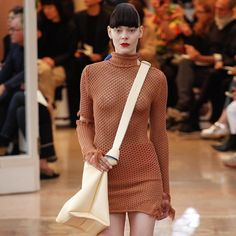this is simple knitting — @acnestudios knitted dress #knit #knits...