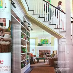 Love the stairs!  Better Homes and Gardens, February 2011
