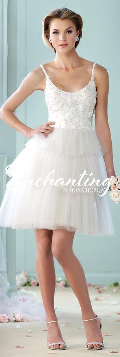 Enchanting by Mon Cheri - The Premiere Collection ~Style No. 215114 #shortweddingdresses