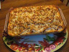 Macaroni long gratiné au four sur Wikibouffe