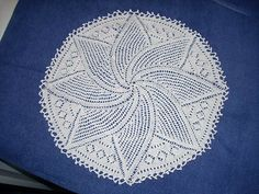 Ravelry: Swirl Leaf Doily - Saturn pattern by Priscilla Publishing Company