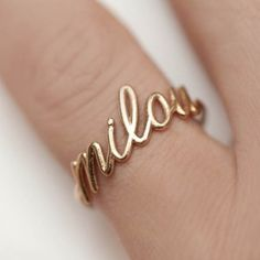 Personalized name ring with my Emy's name.