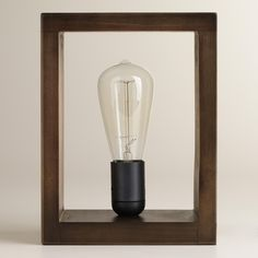 Perfect gift idea for Mother's Day- Check out Shadow Box Edison Lamp from @Cost Plus World Market >> #WorldMarket Gift Giving, Gift Ideas, #MyAmazingMom