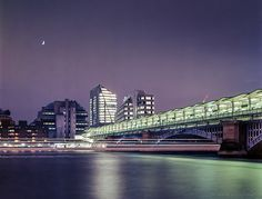 Purple Moon: Looking south over the effervescent Blackfriars Station