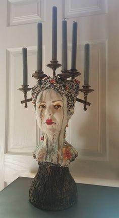 Kirsten Stingle Paper Mache Sculpture, Pottery Sculpture, Sculpture Art, Mannequin Art, Artistic Installation, Ceramic Figures, Assemblage Art, Art For Art Sake, Sacred Art